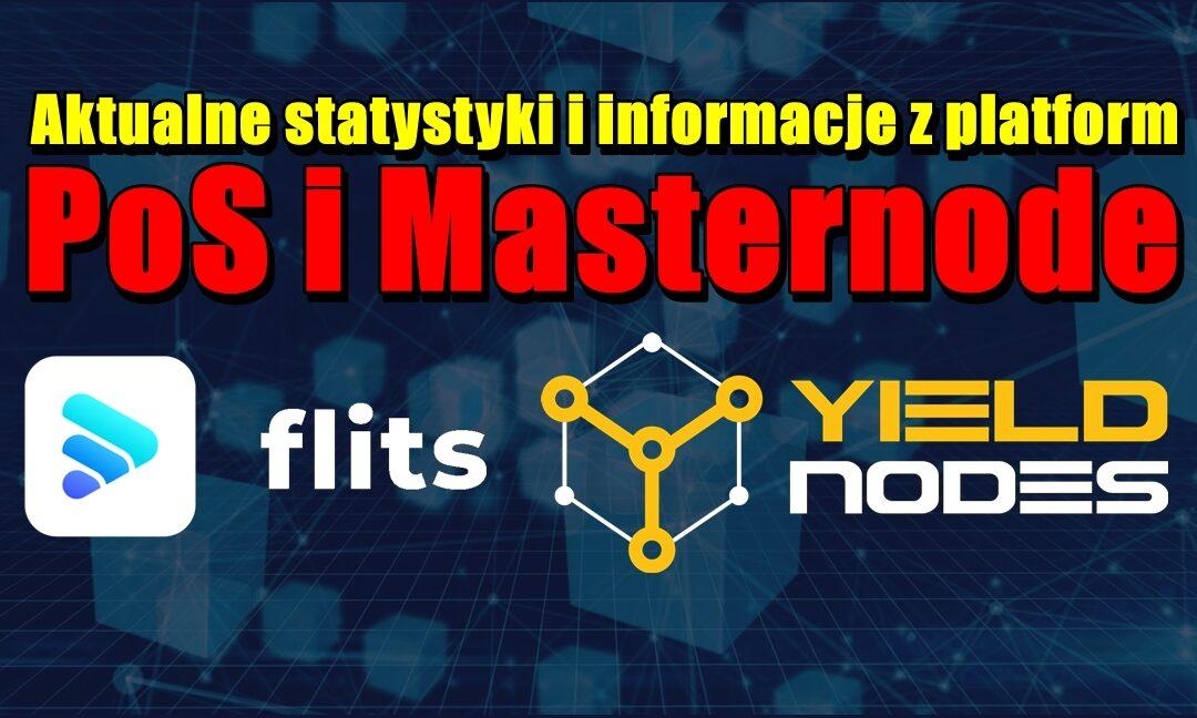 Aktualne statystyki i informacje z platform PoS i Masternode: Flits i Yieldnodes