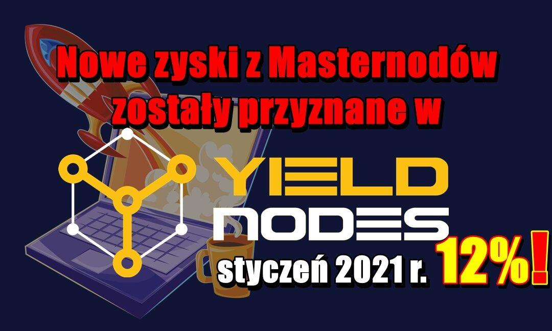 Nowe zyski z Masternodów zostały przyznane w Yieldnodes – styczeń 2021 r.