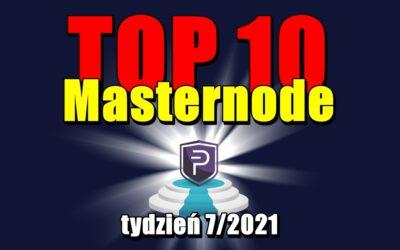TOP 10 Masternode – tydzień 7/2021