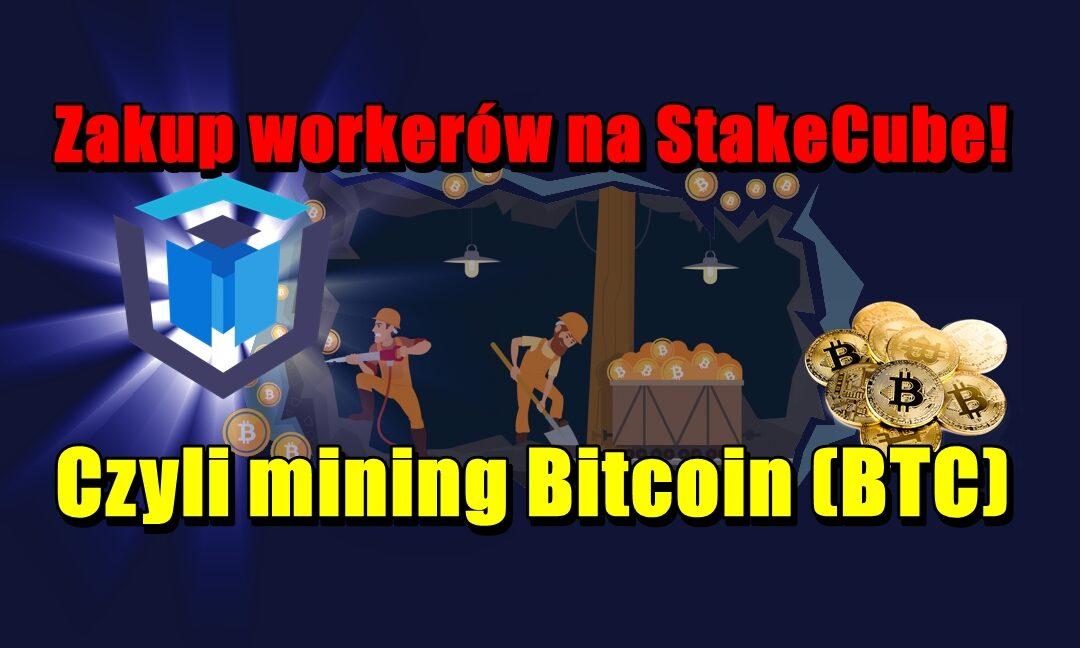 Zakup workerów na StakeCube! Czyli mining Bitcoin (BTC)