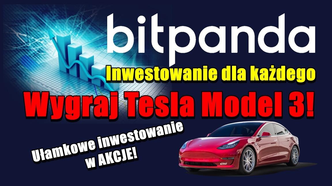BitPanda – Inwestowanie dla każdego. Wygraj Tesla Model 3!