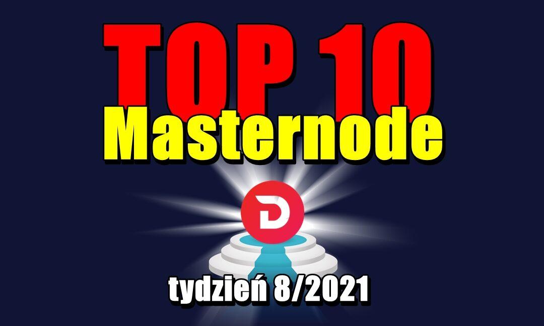 TOP 10 Masternode – tydzień 8/2021