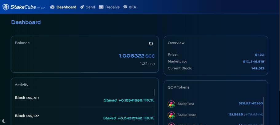 StakeCube informacje z 28 maja 2021 r. SCP UX