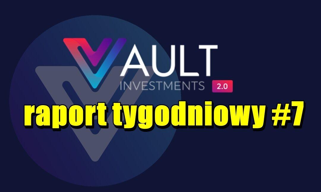 VAULT Crypto Investments, raport tygodniowy #7