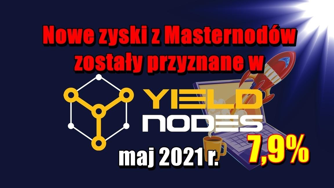Nowe zyski z Masternodów zostały przyznane w Yieldnodes – maj 2021 r.