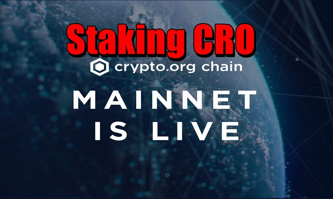 Staking Cro na Mainnet Crypto.org