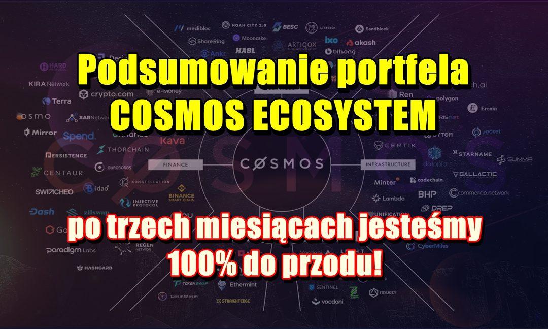 Podsumowanie portfela COSMOS ECOSYSTEM, po trzech miesiącach jesteśmy 100% do przodu!