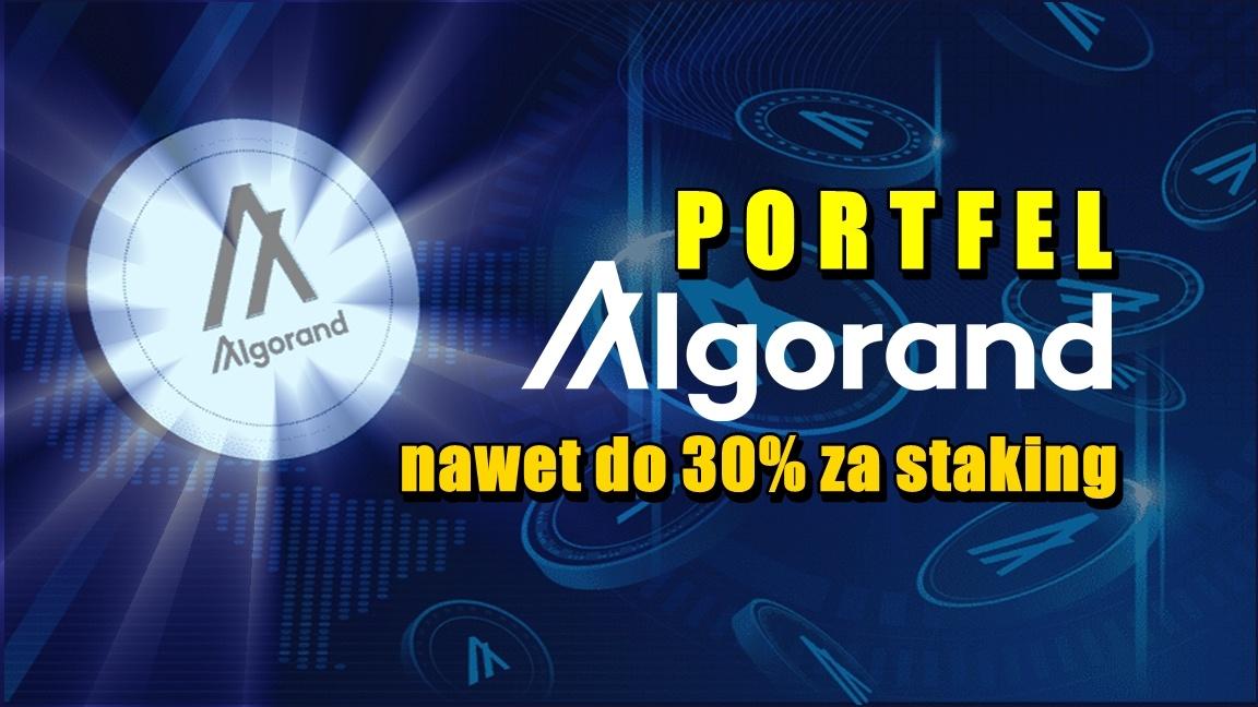Portfel Algorand – nawet do 30% za staking
